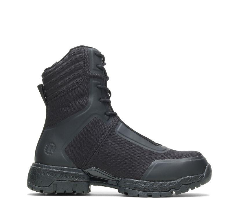 "FootRests® 2.0 Mission Nano Toe 8"" Zipper Boot, Black, dynamic"
