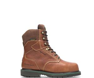 "FootRests® Waterproof Metatarsal Guard Composite Toe 8"" Work Boot, Brown, dynamic"