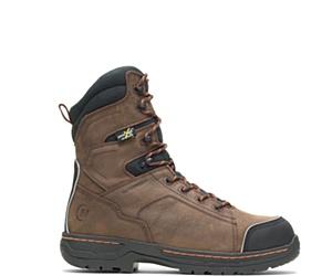 "FootRests® Xt Waterproof Metatarsal Guard Insulated Nano Toe ""8 Work Boot, Brown, dynamic"