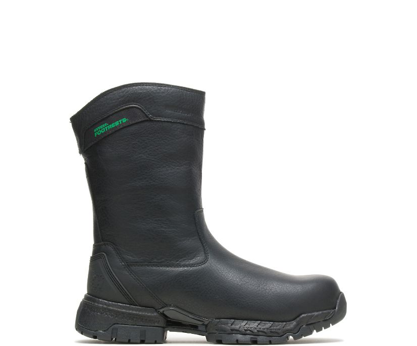 Men's FootRests® 2.0 Crossover Waterproof Nano Toe Wellington, Black, dynamic