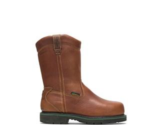 FootRests®  Metatarsal Guard Composite Toe Wellington, Brown, dynamic