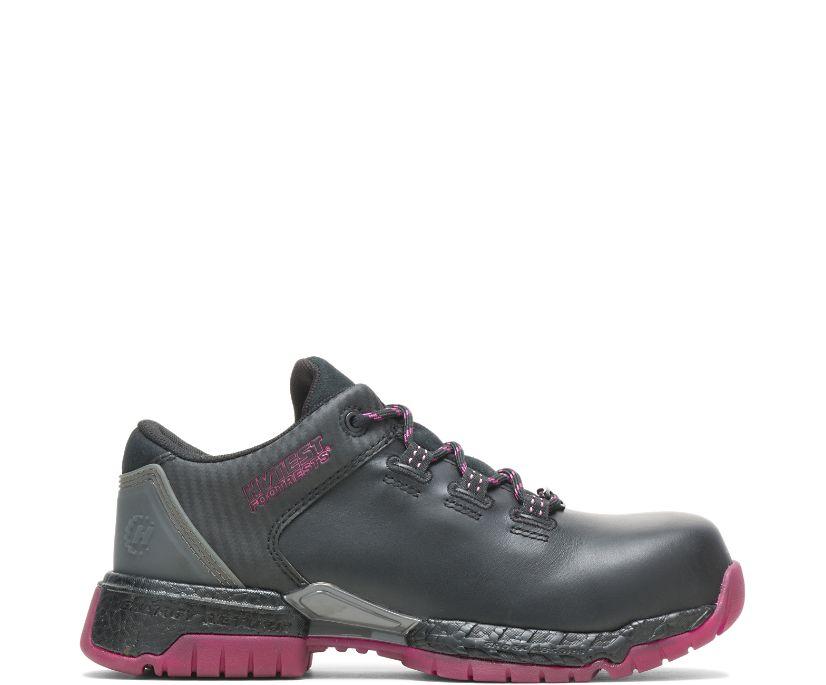 Women's FootRests® 2.0 Pivot Nano Toe Shoe, Black/Berry, dynamic