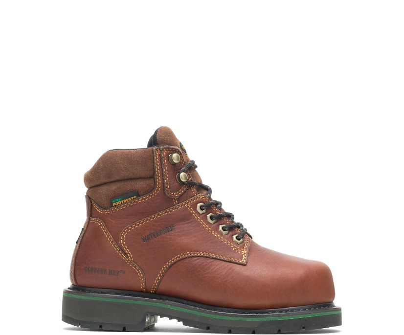 "Women's FootRests® Waterproof Metatarsal Guard Composite Toe 6"" Work Boot, Brown, dynamic"