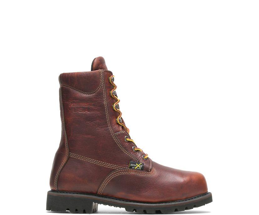 """Axel Usa Metatarsal Guard Steel Toe 8"""" Work Boot, Brown, dynamic"""