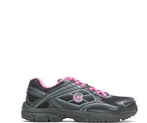 Hayden Steel Toe Shoe, Black, dynamic