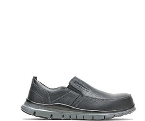Women's Porter Steel Toe Slip On, Black, dynamic