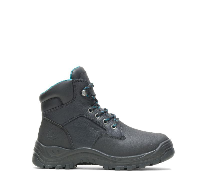 "Women's Amber Direct Attach Metatarsal Guard Steel Toe 6"" work Boot, Black, dynamic"