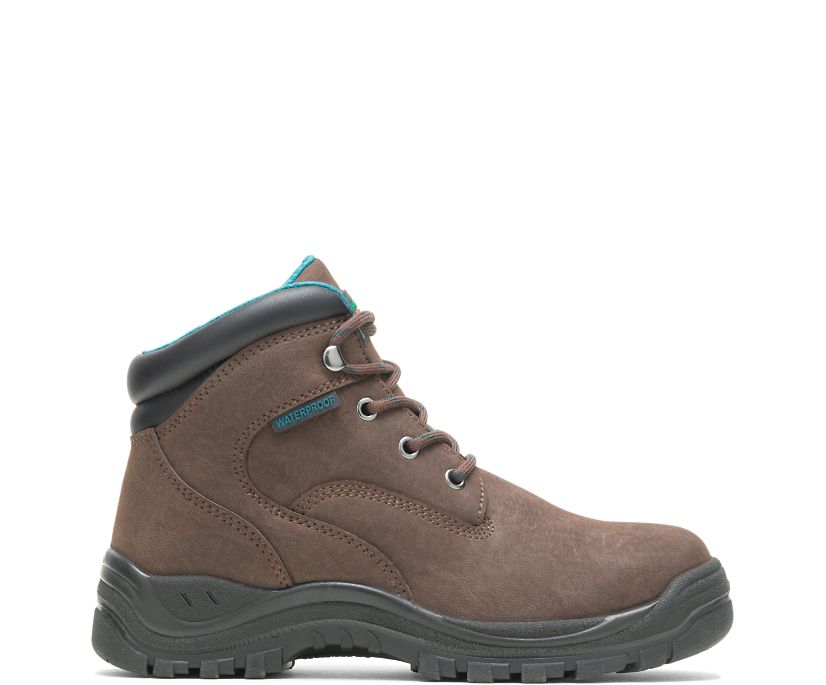 "Amber Direct Attach Steel Toe 6"" Work Boot, Brown, dynamic"