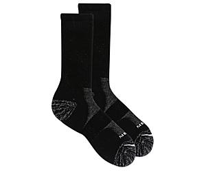 Work Crew Sock, Black Mirage Gray, dynamic