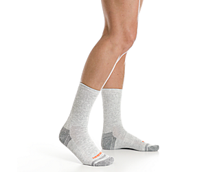 Repreve® Hiker Crew Sock 3-Pack, Grey Heather, dynamic