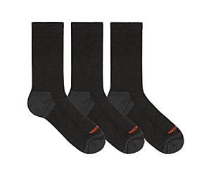 Repreve® Hiker Crew Sock 3-Pack, Black, dynamic
