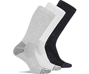 Repreve® Hiker Crew Sock 3-Pack, Grey Heather Asst, dynamic