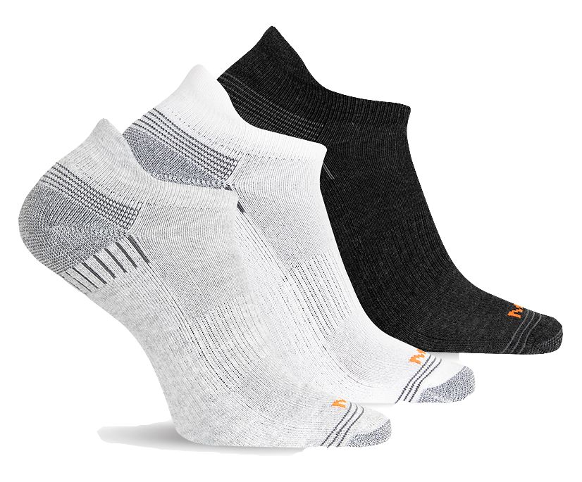Repreve® Low Cut Tab Sock 3-Pack, Grey Heather Asst, dynamic