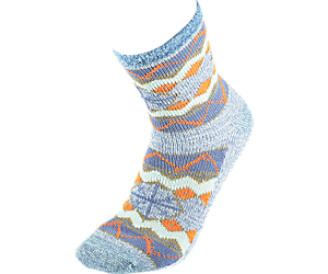 Cabin Cozy Crew Sock, Light Blue, dynamic