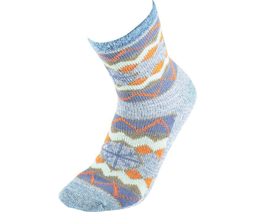 Cabin Cozy Crew Sock, Light Blue, dynamic
