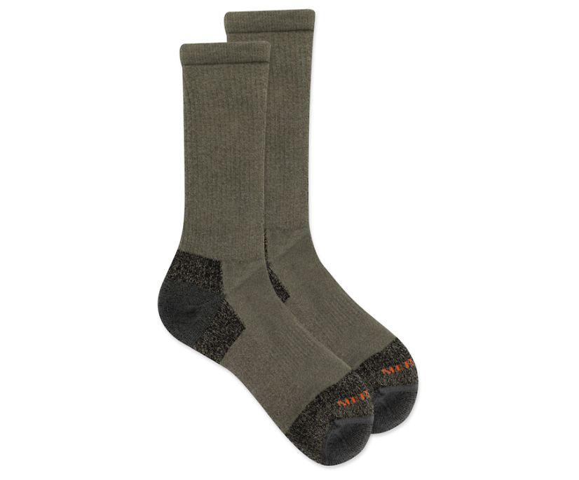 Moab Hiker Crew Sock, Olive, dynamic