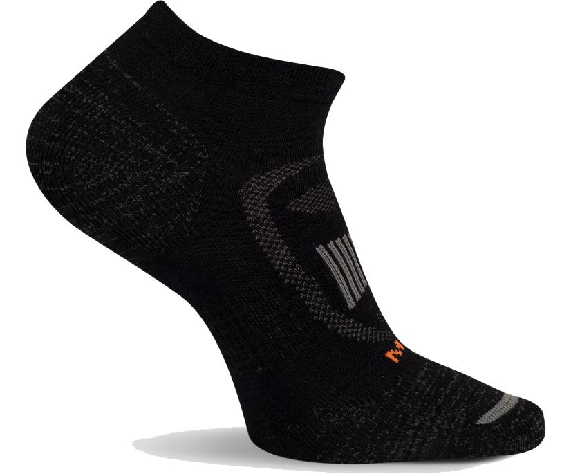 Zoned Low Cut Hiker Sock, Onyx, dynamic