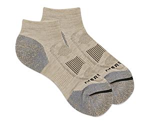 Zoned Low Cut Hiker Sock, Oatmeal Heather, dynamic