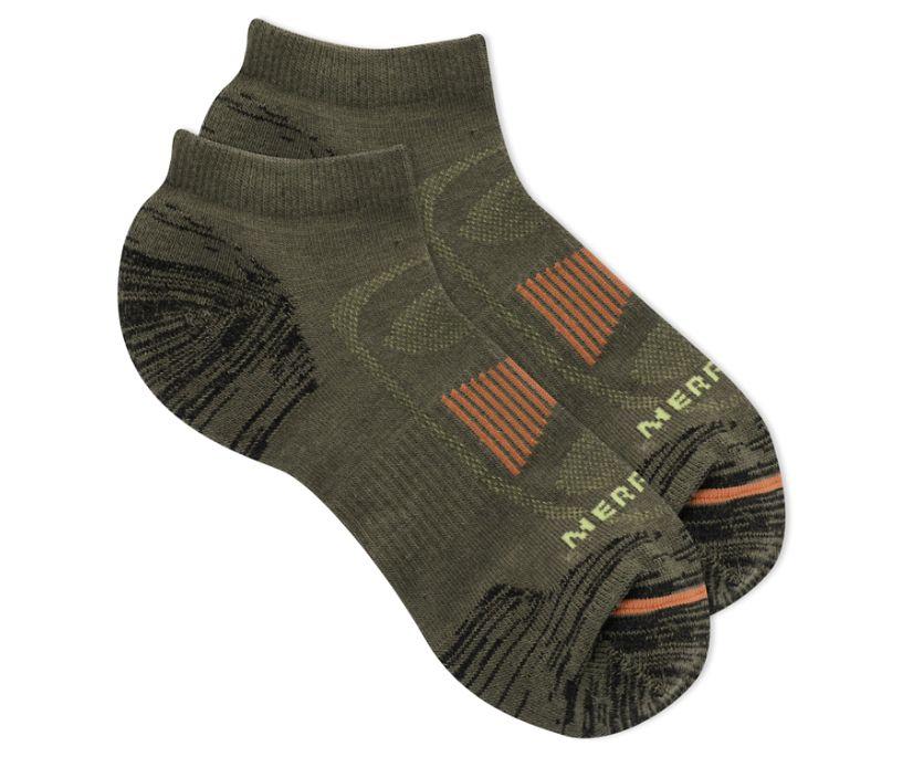Zoned Low Cut Hiker Sock, Moss, dynamic