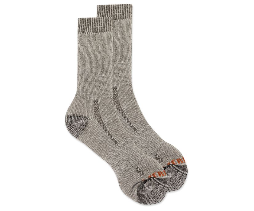 Cushioned Heavyweight Hike Crew Sock, Brown, dynamic