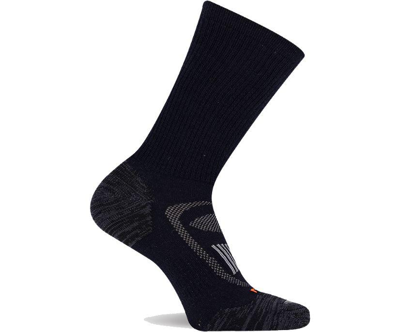 Cushioned Zoned Hiker Crew Sock, Onyx, dynamic