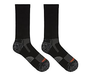 Lightweight Hiker Crew Sock, Black, dynamic