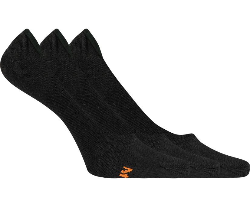 3 Pack Performance Liner Sock, Black, dynamic