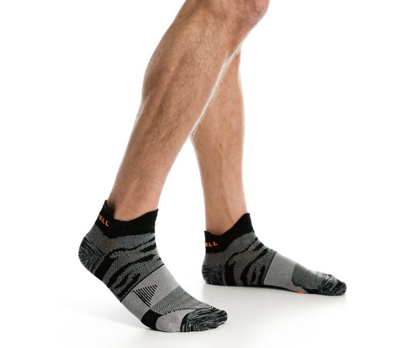 Trail Glove Low Cut Double Tab Sock, Black, dynamic