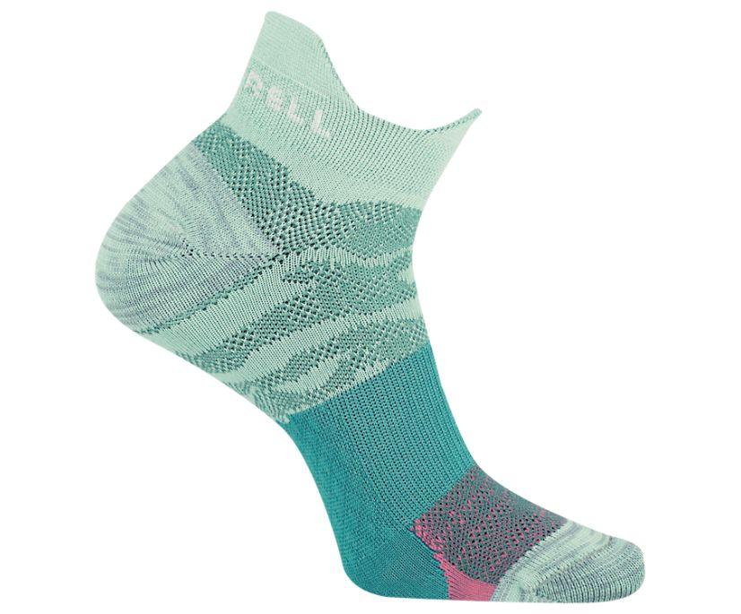 Trail Glove Low Cut Double Tab Sock, Aqua, dynamic