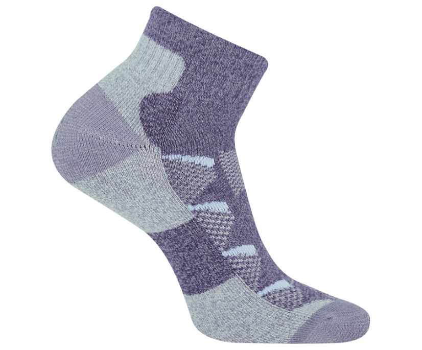 Moab Anniversary Hiker Quarter Tab Sock, Blue, dynamic