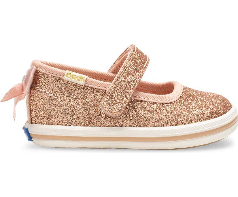 Keds x kate spade new york Sloane MJ Glitter Crib Sneaker., Rose Gold, dynamic