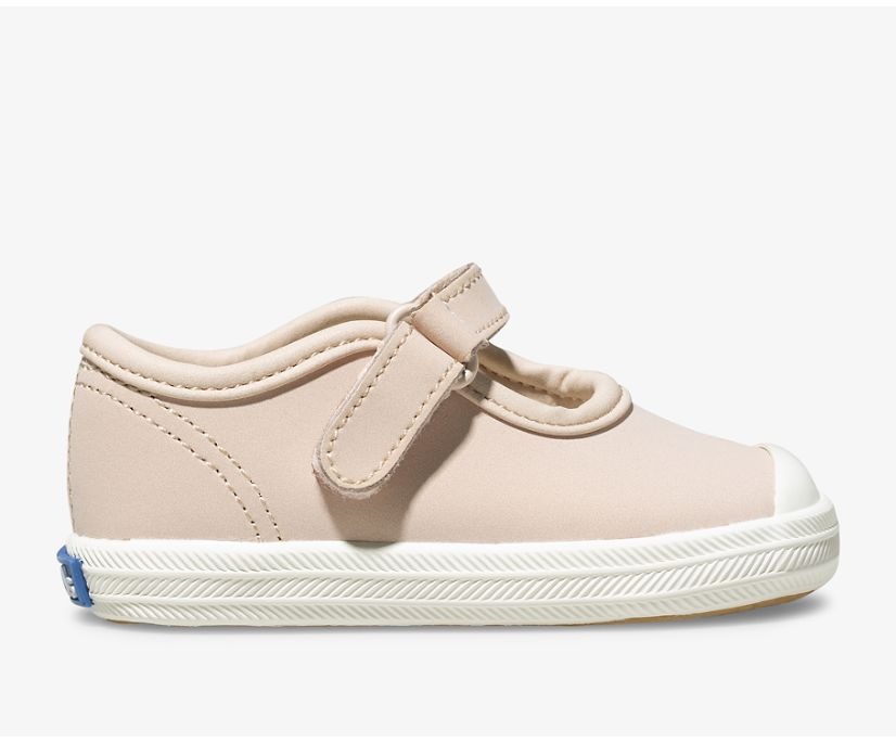Champion Toe Cap MJ Sneaker, Blush, dynamic