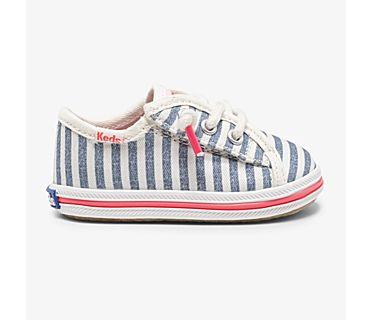 Kickstart Crib Feat. Organic Cotton, Preppy Stripe Blue, dynamic