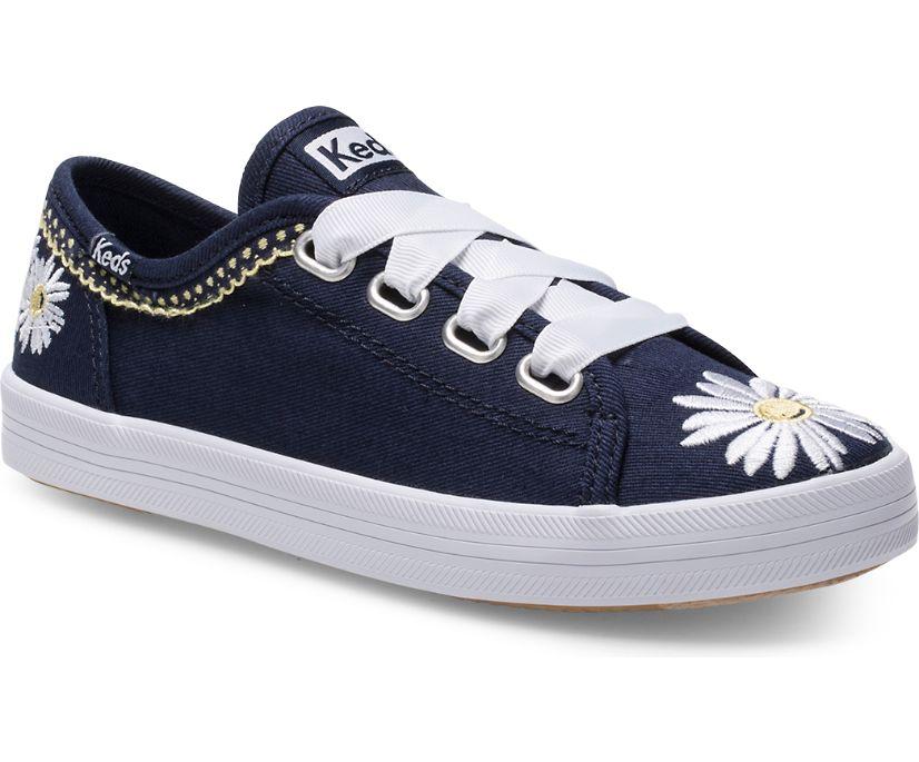 Kickstart Sneaker, Navy Daisy, dynamic