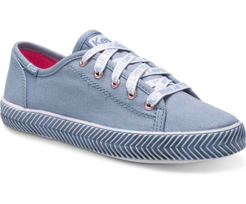 Kickstart Herringbone Sneaker, Denim Messaging, dynamic