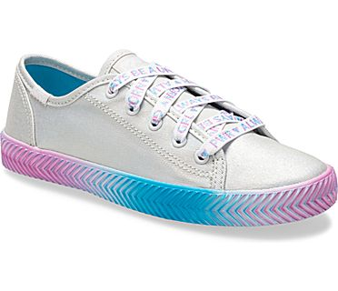 Kickstart Herringbone Sneaker, Silver Messaging, dynamic