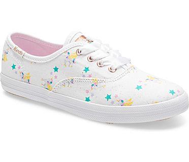 Keds x SUNNYLIFE Champion Unicorn Sneaker, White, dynamic