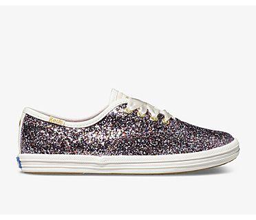 Keds x kate spade new york Champion Glitter Sneaker, Multi Lilac, dynamic