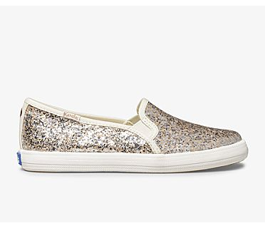Keds x kate spade new york Double Decker Metallic Glitter, Multi, dynamic