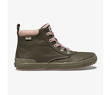Scout Coated Canvas Boot, Olive, dynamic