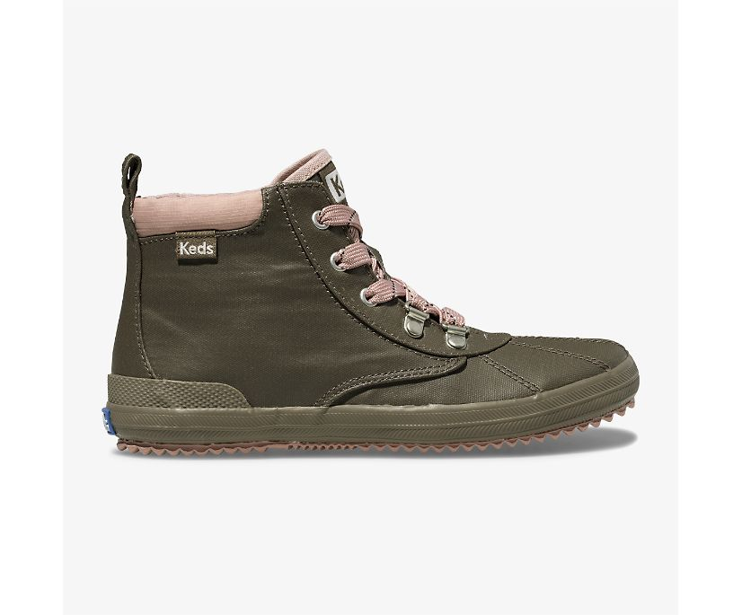 Cyber Scout Coated Canvas Boot, Olive, dynamic