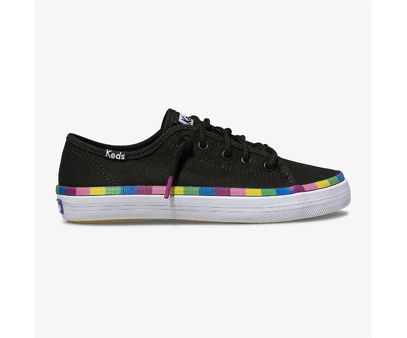 Kickstart Sneaker., Black Multi Rainbow, dynamic