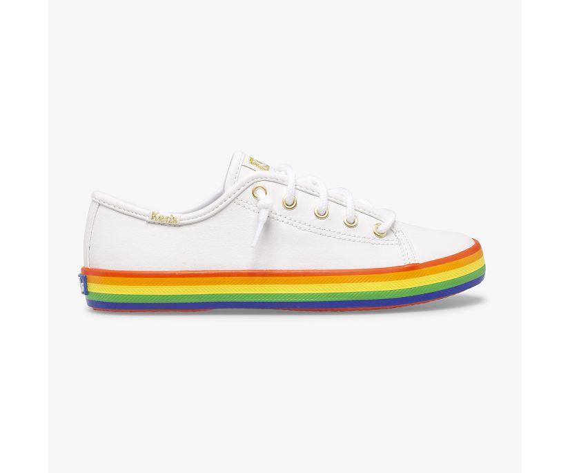Kickstart Leather Rainbow, White/Rainbow, dynamic