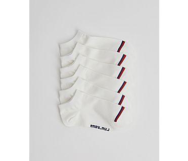 Kids 6 PK Low Show Socks, White, dynamic