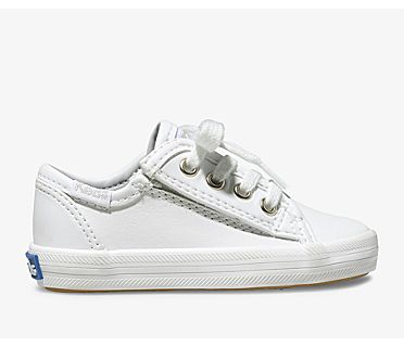 Kickstart Jr. Leather Sneaker, White Leather, dynamic