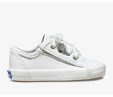 Kickstart Core Jr. Leather Sneaker, White Leather, dynamic