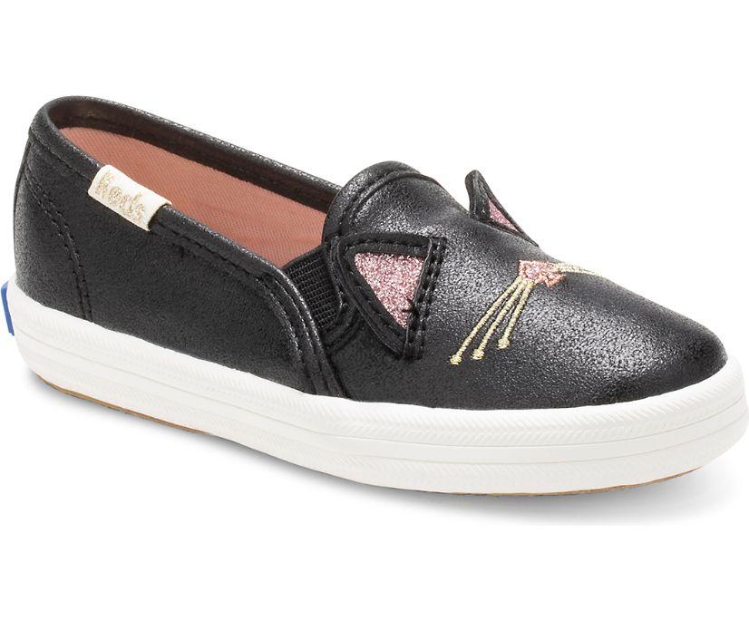 Keds x kate spade new york Cat Double Decker Sneaker, Black Cat, dynamic