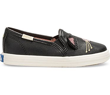Keds x kate spade new york Cat Double Decker Sneaker, Black Cat, dynamic