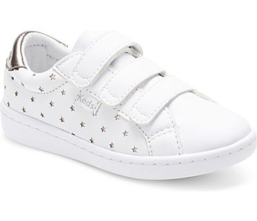 Ace 3V Sneaker, White Star Perf, dynamic