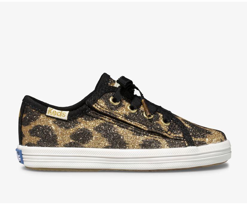Keds x kate spade new york Kickstart Jr. Glitter Leopard, Glitter Leopard, dynamic